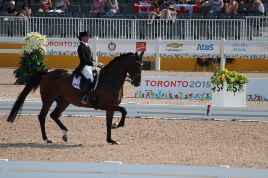 Belinda Trussell competing at the 2015 Pan Am Games