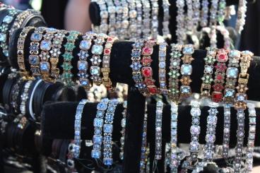 Bling bracelets.