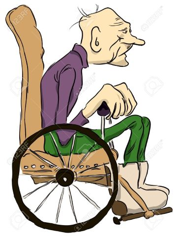 13659759-Grandpa-sits-in-a-wheelchair--Stock-Vector-cartoon-man