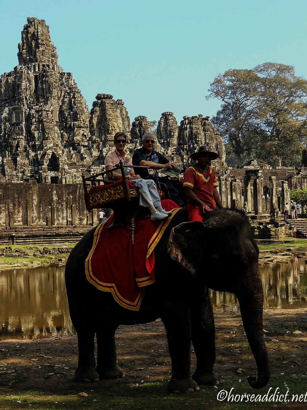 Elephant ride at Bayon temple, Angkor Cambodia